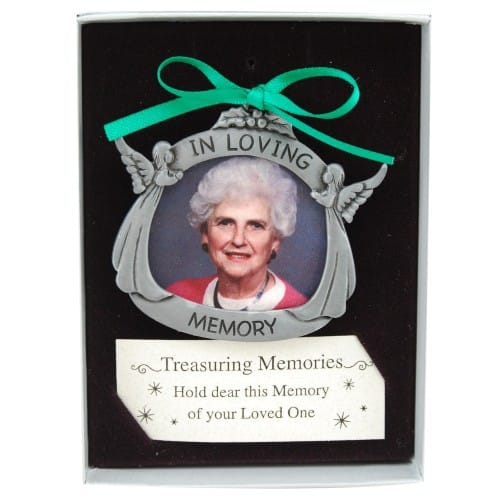 In Loving Memory  Pewter Photo Ornament