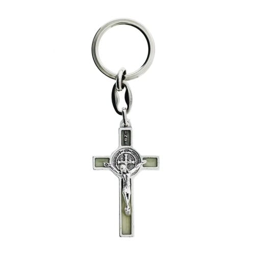Luminous St. Benedict Crucifix Keychain