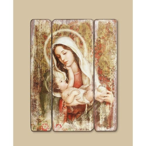 Madonna & Christ Child Wall Plaque