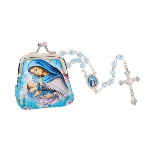 Madonna & Child Purse and Rosary Set