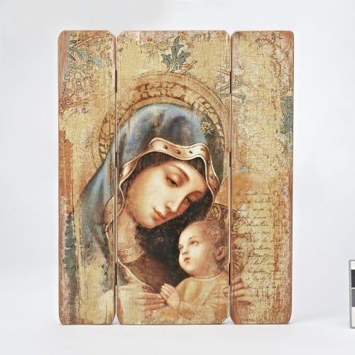 Madonna Amp Child Wall Plaque The Catholic Company