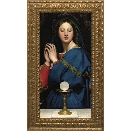 Madonna of the Host w/ Ornate Gold Frame