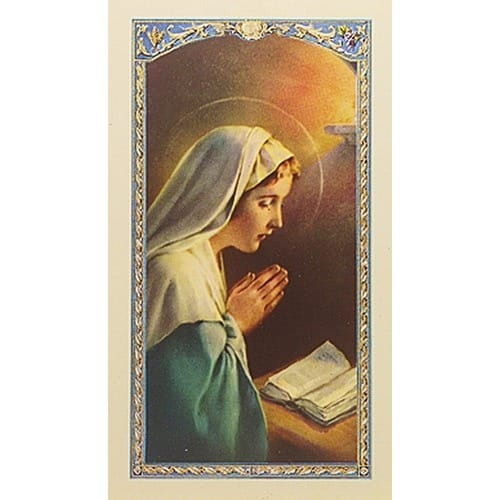 Madonna Praying - A Nurse's Prayer - Prayer Card