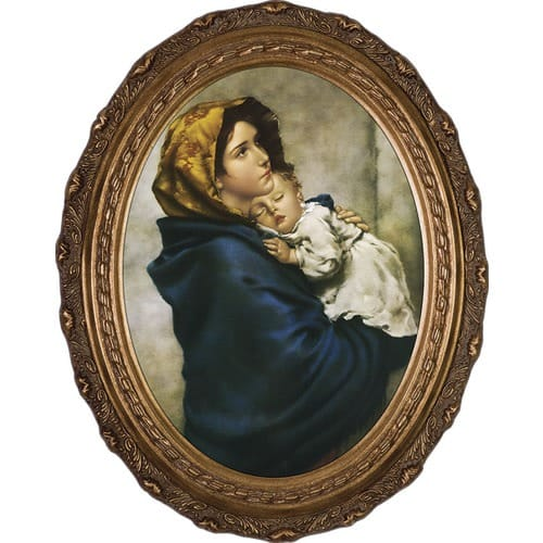 Madonna of the Streets on Canvas w/ Gold Oval Frame | The Catholic ...