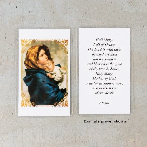 Madonna of the Streets Personalized Prayer Cards