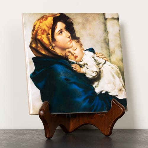 Madonna of the Streets Ceramic Tile