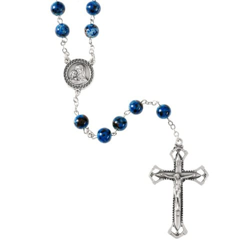 Marbled Blue and Green Rosary