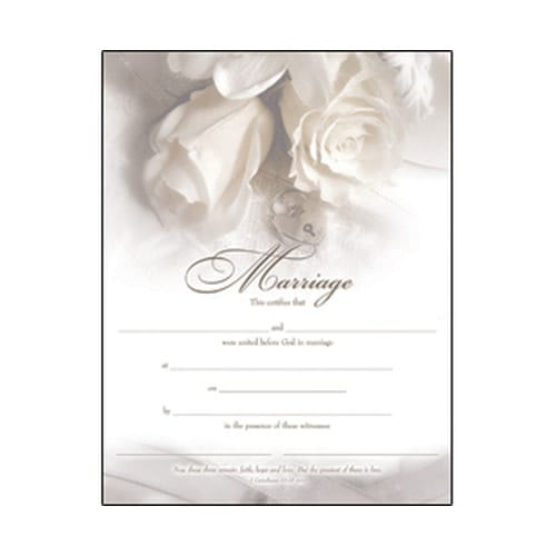Marriage Certificate Gold-Foil Stamped | The Catholic Company