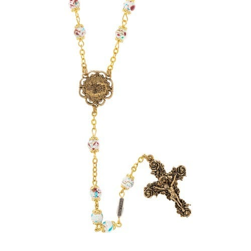 Mary Love Rosary Gold Plated