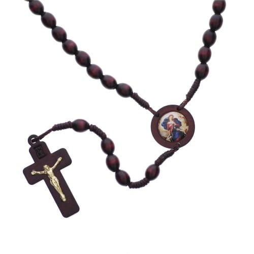 Mary Undoer of Knots Wood Rosary