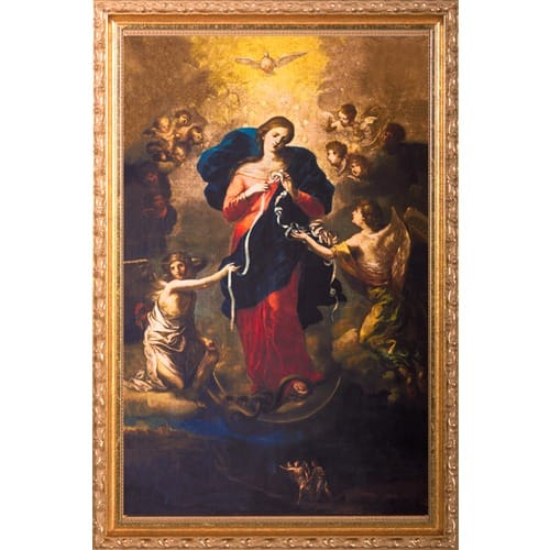 Mary Untier Of Knots In Ornate Gold Frame 10x16 The Catholic Company