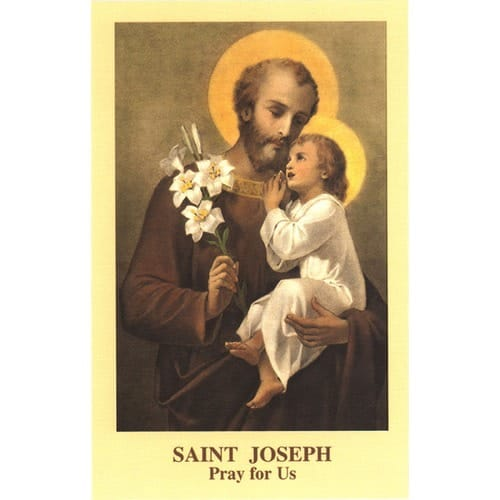 The Memorare of St. Joseph Prayercard (Pack of 100)