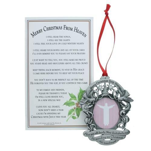 - Merry Christmas From Heaven Photo Ornament The Catholic Company