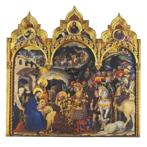 adoration of the magi cards 12 pack - Tri Fold Christmas Cards