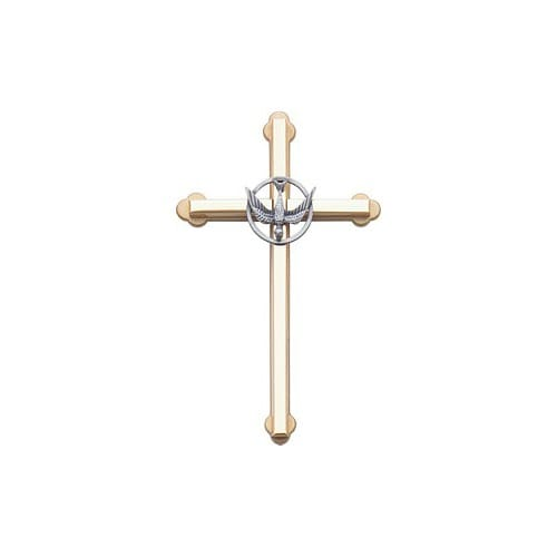 Metal Wall Cross w/Dove - 6 inch