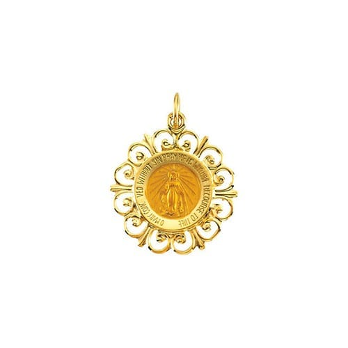 Miraculous Medal - 14K Gold (no chain)