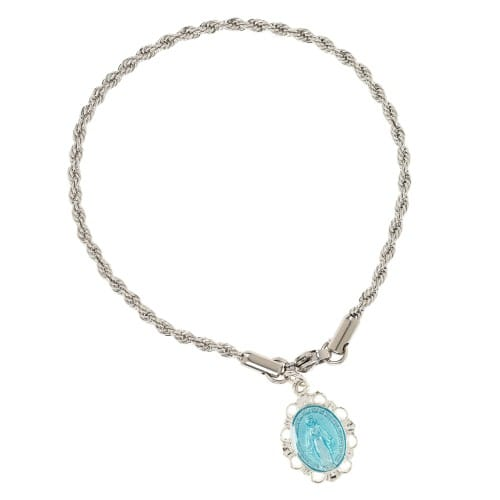 Miraculous Medal Rope Chain Bracelet