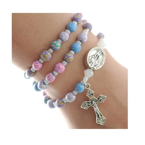Multi-color Pastel Rosary Bracelet