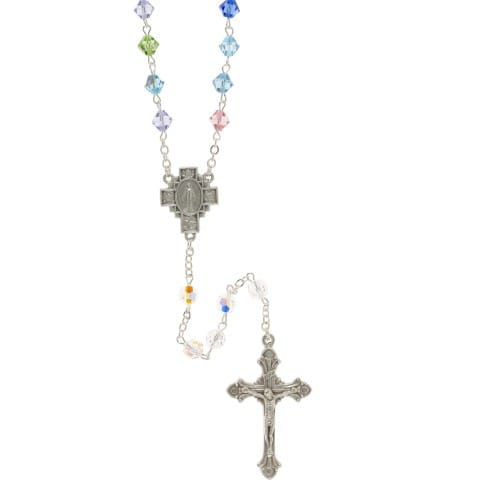 Multicolored Swarovski Crystal Rosary