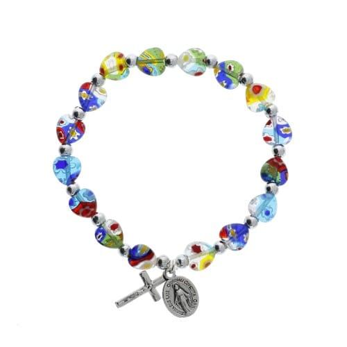 Murano Style Heart Bracelet