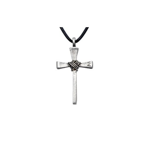 Nail Cross Pendant Necklace