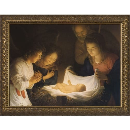 Nativity w/ Gold Frame