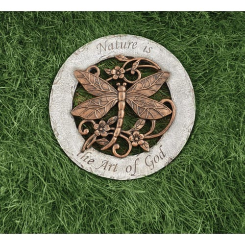 Nature Is The Art Of God Dragonfly Garden Stone The Catholic Company