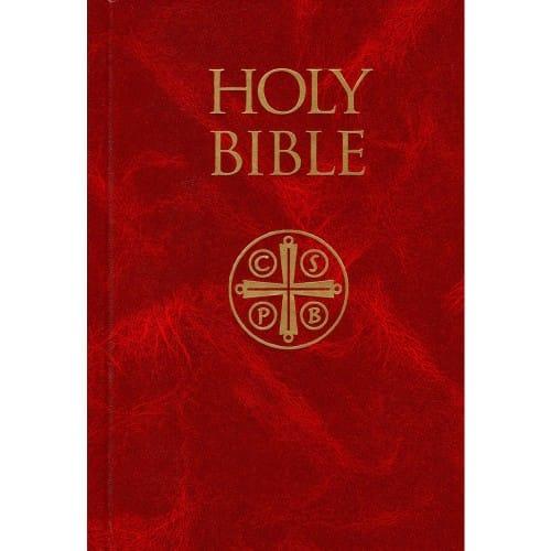 Hardcover Burgundy Bible Nabre The Catholic Company