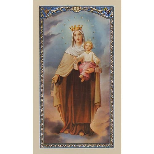 Novena to Our Lady of Mount Carmel - Prayer Card
