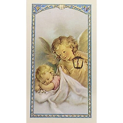 Now I Lay Me Down To Sleep - Guardian Angel - Prayer Card