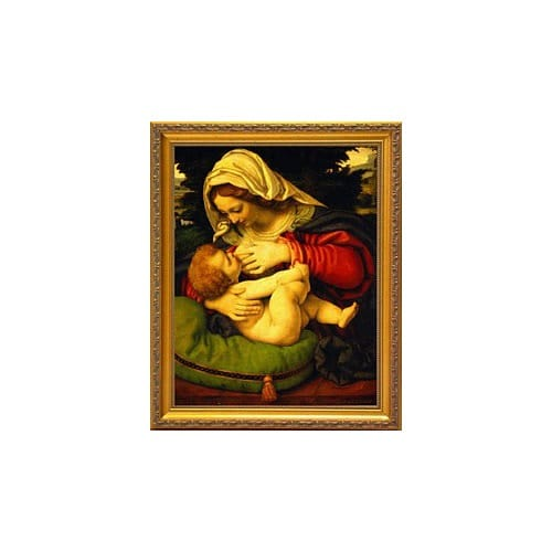 Nursing Madonna (Madonna of the Green Cushion) By Solario