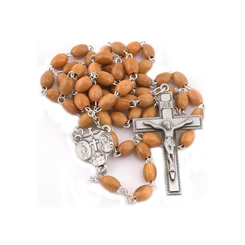 Olivewood Rosary - 4X6MM