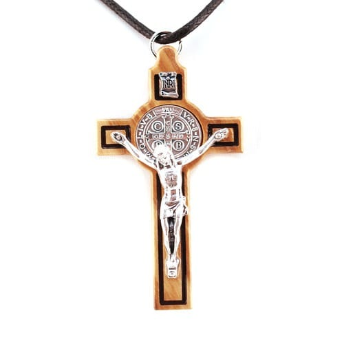 Olivewood St. Benedict Crucifix - 3 inch