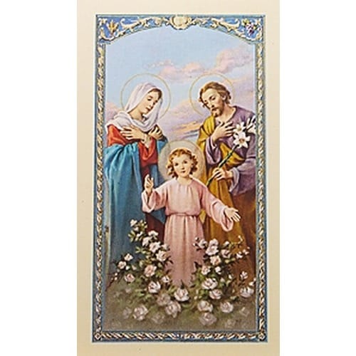 Oración a la Sagrada Familia (Holy Family) – Spanish Prayer Card