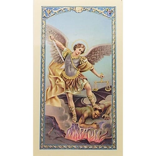 Oración a San Miguel (St. Michael) -  Spanish Prayer Card