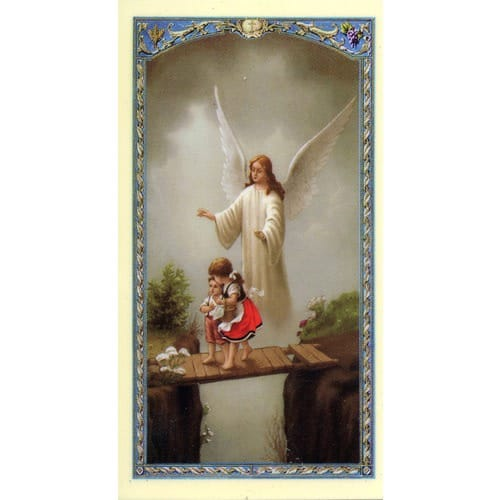 Oracion al Angel de la Guarda (Guardian Angel) – Spanish Prayer Card