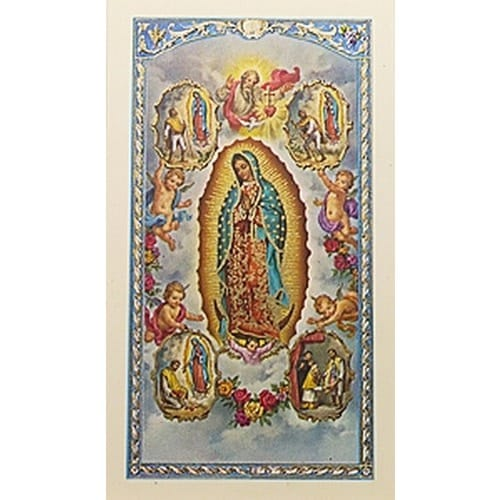 Oracion a la Virgen Santisima de Guadalupe (Our Lady of Guadalupe) -  Spanish Prayer Card