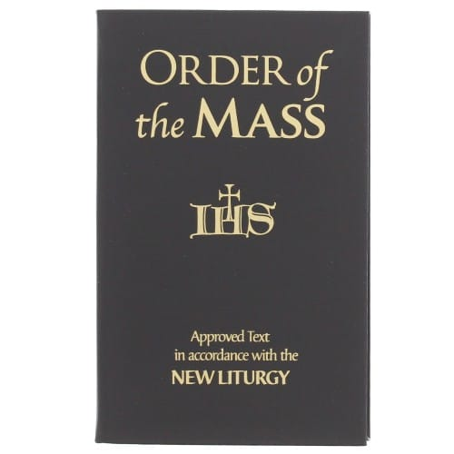 The Order of the Mass, 3 1/2 by 5 1/2 inches