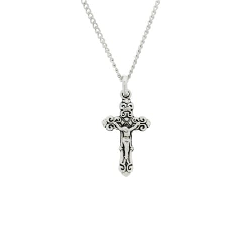 Ornate sterling silver crucifix necklace the catholic company ornate sterling silver crucifix necklace aloadofball Images