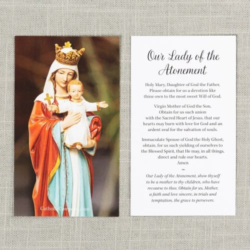 Our Lady of the Atonement Prayer Card