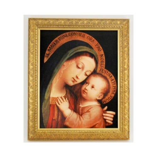 Our Lady of Good Counsel, Gold Frame
