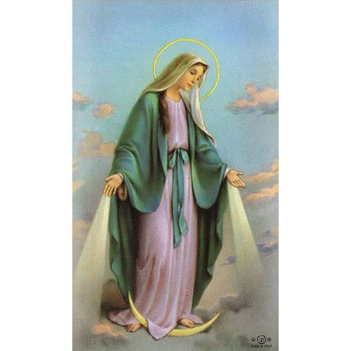 Our Lady of Grace Personalized Prayer Card (Priced Per Card)