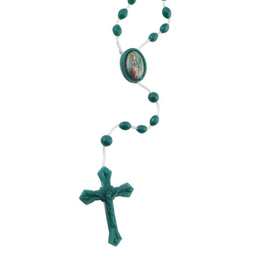 Our Lady of Guadalupe Plastic Rosary, Box of 100