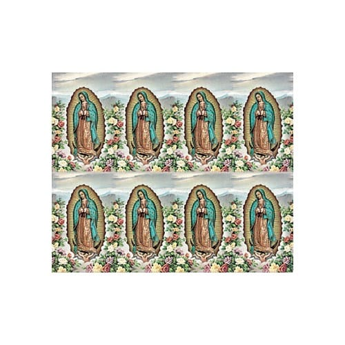 Our Lady of Guadalupe w/ Roses Personalized Prayer Card (Priced Per Card)