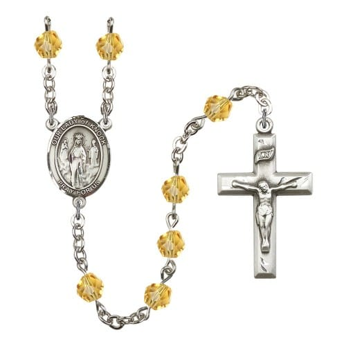 Our Lady Of Knock Yellow November Rosary 6mm