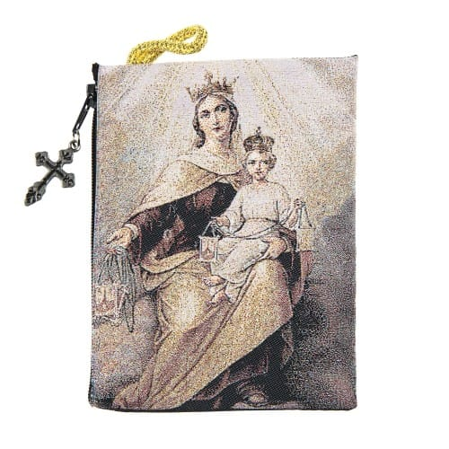 Our Lady of Mt. Carmel & Child Rosary Pouch