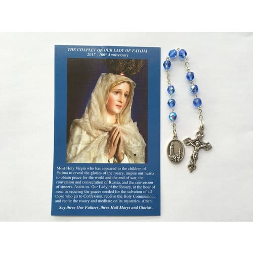 Our Lady of Fatima Chaplet & Prayer Card