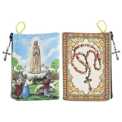Our Lady of Fatima Rosary Pouch
