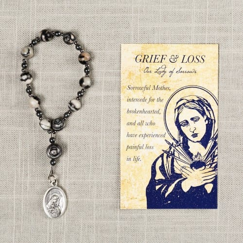 Our Lady of Sorrows Loss Rosary Decade & Card