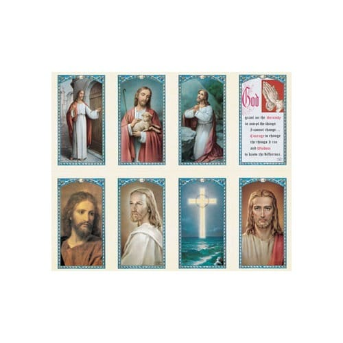 Our Lord Series Assorted Personalized Prayer Card (Priced Per Card)